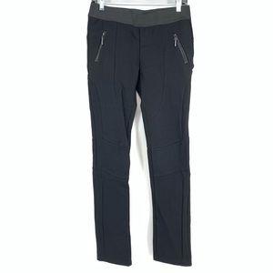 Patrizia Luca Black Textured Knee Trouser Pants M